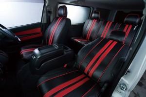 ファッション性と機能性を備えるハイエース用シートカバー