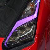 【画像】日産R35GT-Rの後期型ヘッドライトで カラーイルミネーションを楽しむ