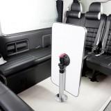 【画像】ハイエースなどの後席を快適空間へと変える「テーブルポールキット」