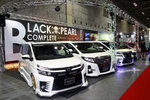 大阪オートメッセ「ブラックパール」からアル/ヴェルのコンプリートカーが登場
