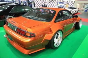 大阪オートメッセ「タケマルファクトリー」S14シルビアの大胆メイク!