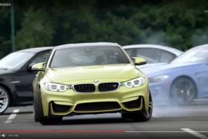 BMW歴代M3の間を「ドリフトで抜けるM4」の妙技【動画】