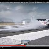 【画像】日産GT-Rが304.96 Km/hでドリフト【動画】