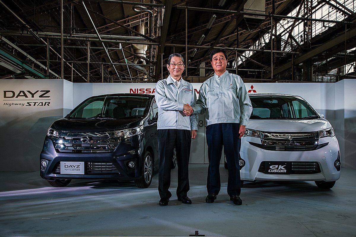 Nissan Dayz, Mitsubishi eK Custom, NMKV, Mistubishi Mizushima Plant, Nissan COO Toshiyuki Shiga, Mitsubishi President Osamu Masuko