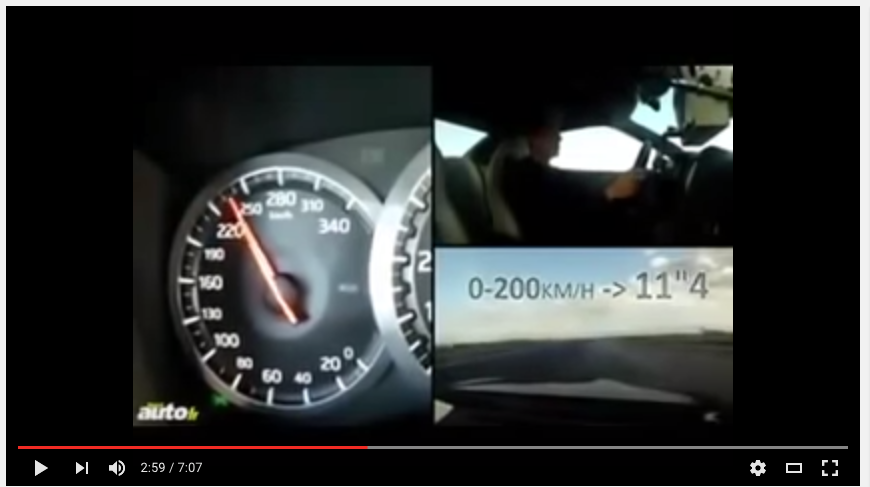 世界の名車10台が0-300km/hタイムを競う!【動画】