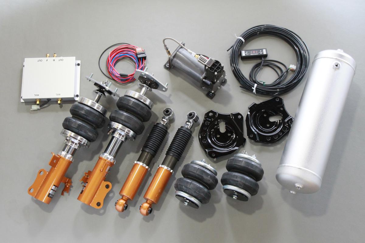 アドバンスバージョン。エアバック、ショック、4ガロンタンク、2独式電磁弁、コンプレッサーなどの一式が含まれたキット。他にもグリッターバージョンもある