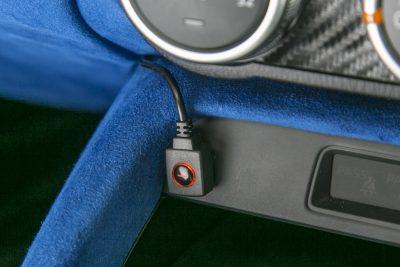 TV切替タイプは、付属のスイッチで機能のON/OFFを行なう。ワンタッチで純正機能へ復帰可能