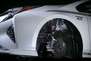 50プリウス専用に「ブリッツ」がチューニングした車高調整式サス