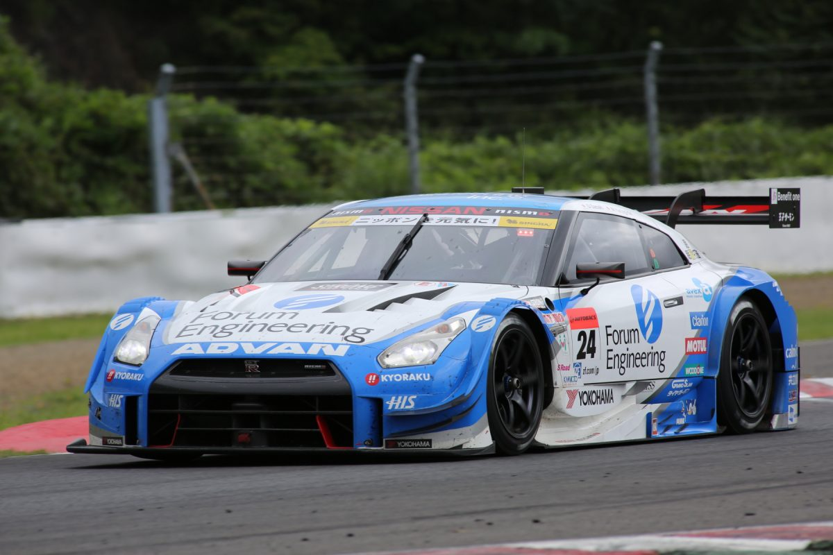 GT500クラスは、タイヤ無交換で逃げ切ったNo.24 フォーラムエンジニアリング ADVAN GT-Rが優勝