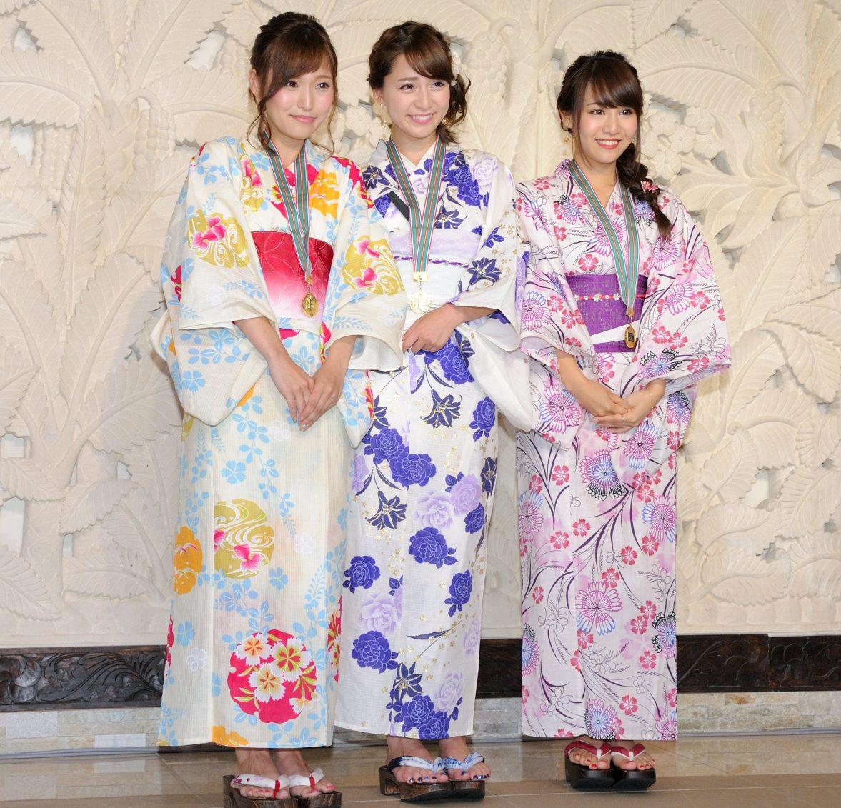 左からグランプリの引地裕美さん、準グランプリ・堀尾実咲さん、特別賞・山本愛実さん