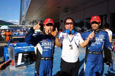 カルソニックIMPUL GT-Rのドライバーは、安田裕信/ジョアオ・パオロ・デ・オリベイラの両選手。監督は星野一義氏