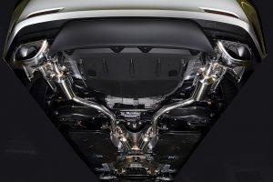 心地良い高音の響きを目指す「レクサスRC350」用車検対応マフラー