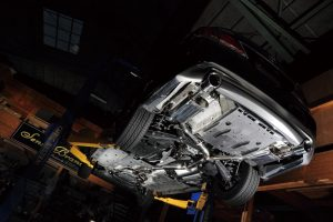 「センスブランド」が車検対応210系クラウン用マフラーをラインアップ