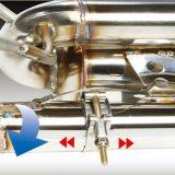 【画像】心地良い高音の響きを目指す「レクサスRC350」用車検対応マフラー