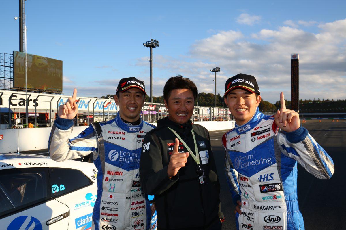 GT500クラスを制したのは『フォーラムエンジニアリング ADVAN GT-R』。ドライバーは、佐々木 大樹選手と柳田 真孝選手。監督は近藤真彦氏だ