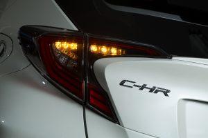 C-HRのリヤウインカーもシーケンシャル仕様に変更