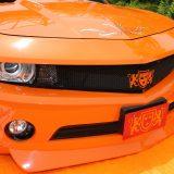 【画像】鮮やかオレンジ&リーフペイントのド派手なカマロ【クロスファイブ2017TOKYO】