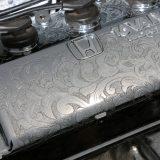 エンジンに彫刻『エングレービング』を施すEFシビック【クロスファイブ2017TOKYO】
