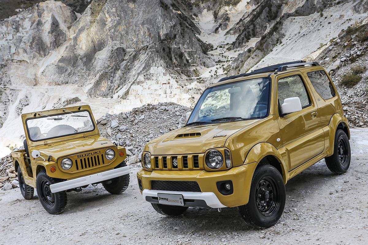 イタリアで販売されたジムニーシエラの限定車と初代ジムニー