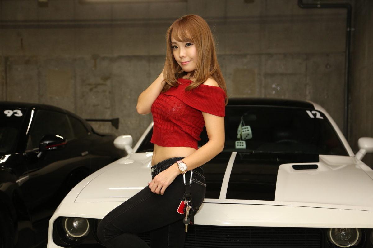 東京ガールズカーコレクション、TGCC、ダッジチャレンジャー、マッスルカー