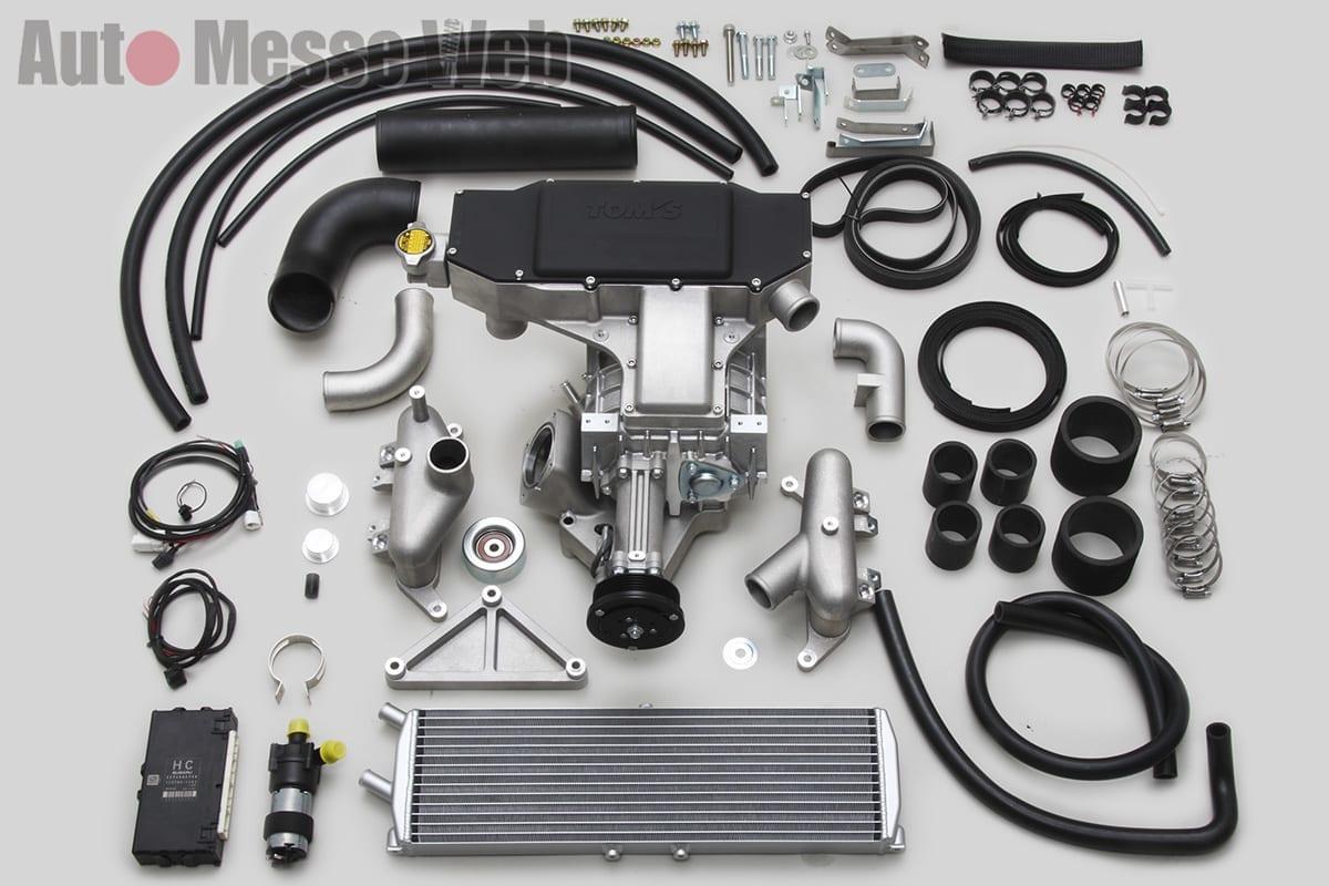 トムス、スーパーチャージャー、ハイパーコンウレッサーキット、ルーツ式、流れるウインカー、LEDウインカーミラーカバー