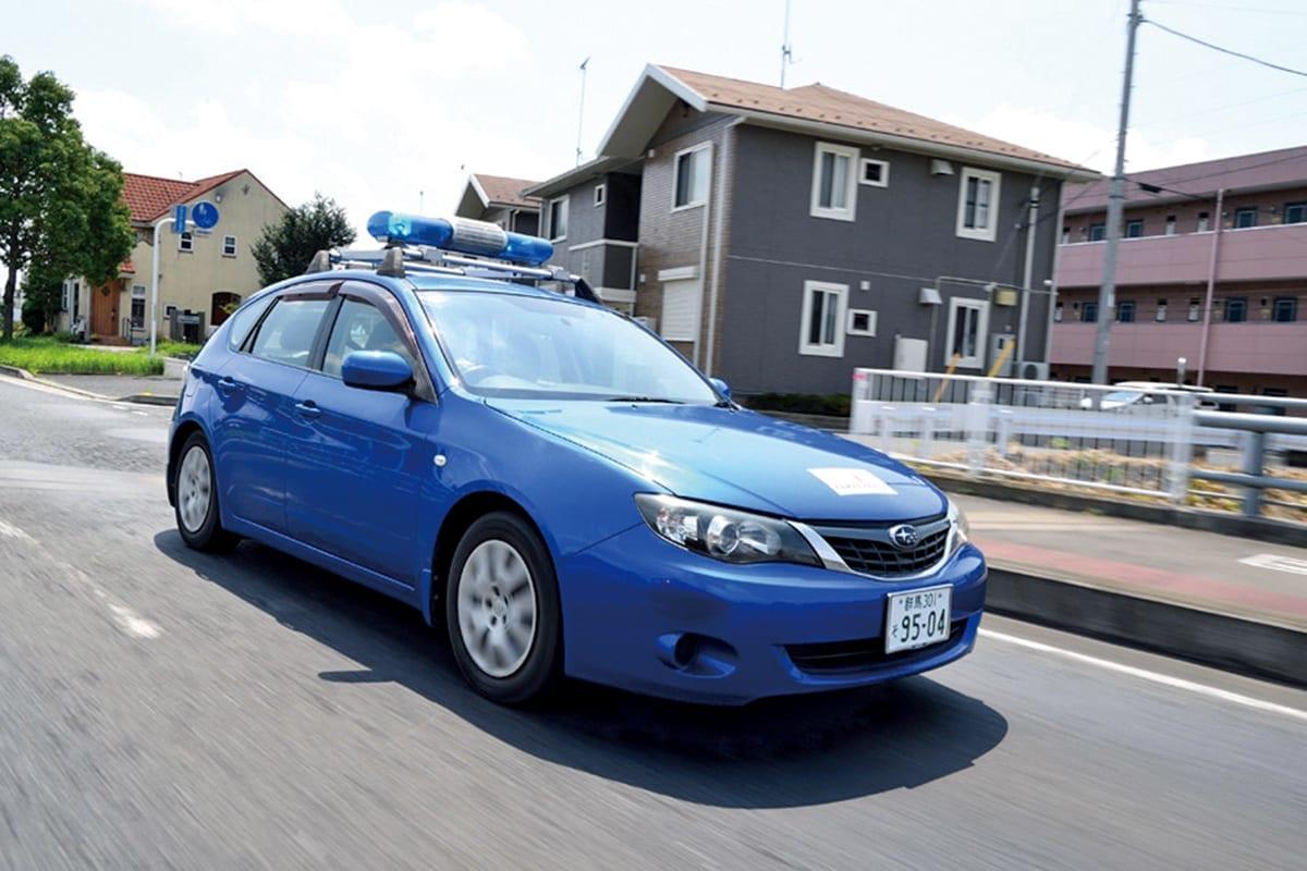 防犯パトロール 車 青パト 巡回 群馬 太田市 インプレッサ 働く車