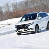 【画像】ジュネーブショー発表前の「新型アウトランダー」を雪上で試す!