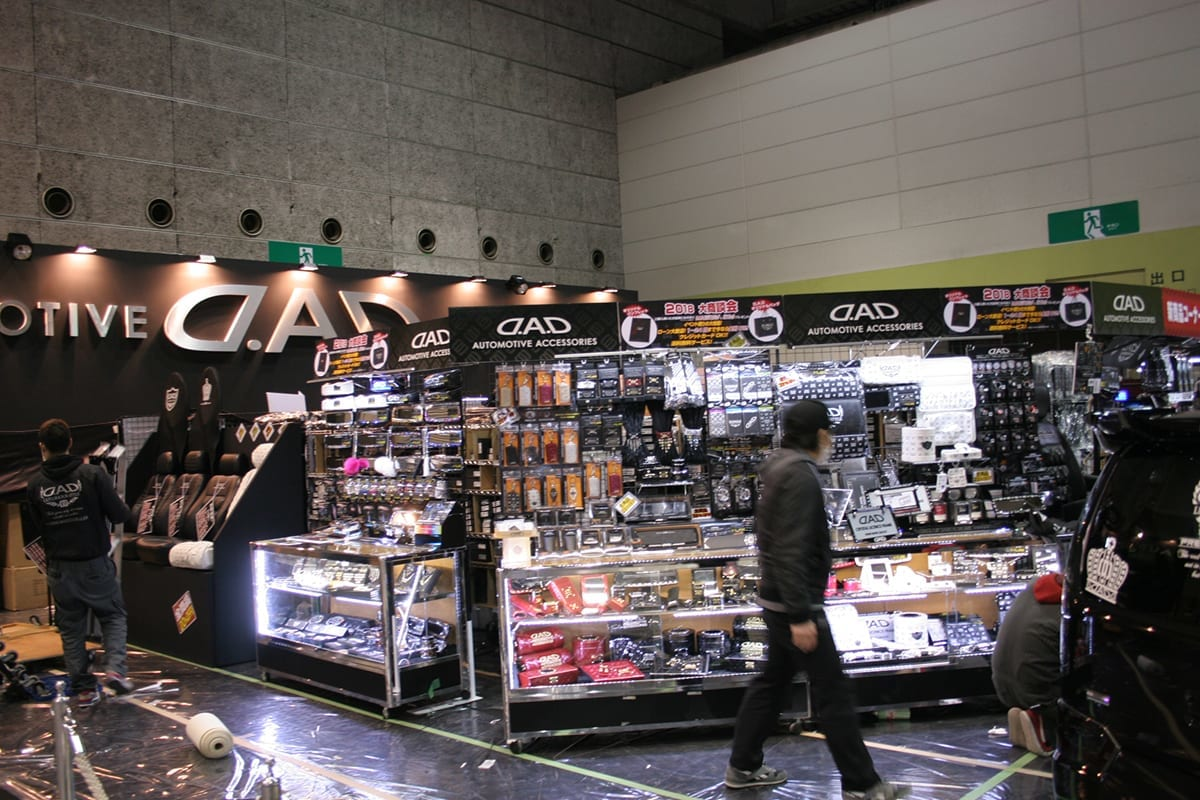 大阪オートメッセ2018 2号館 カスタム パーツ ミニバン ワゴン
