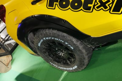 大阪オートメッセ2018 ダブルフット スバルXV ラバーディップ オーバーフェンダー