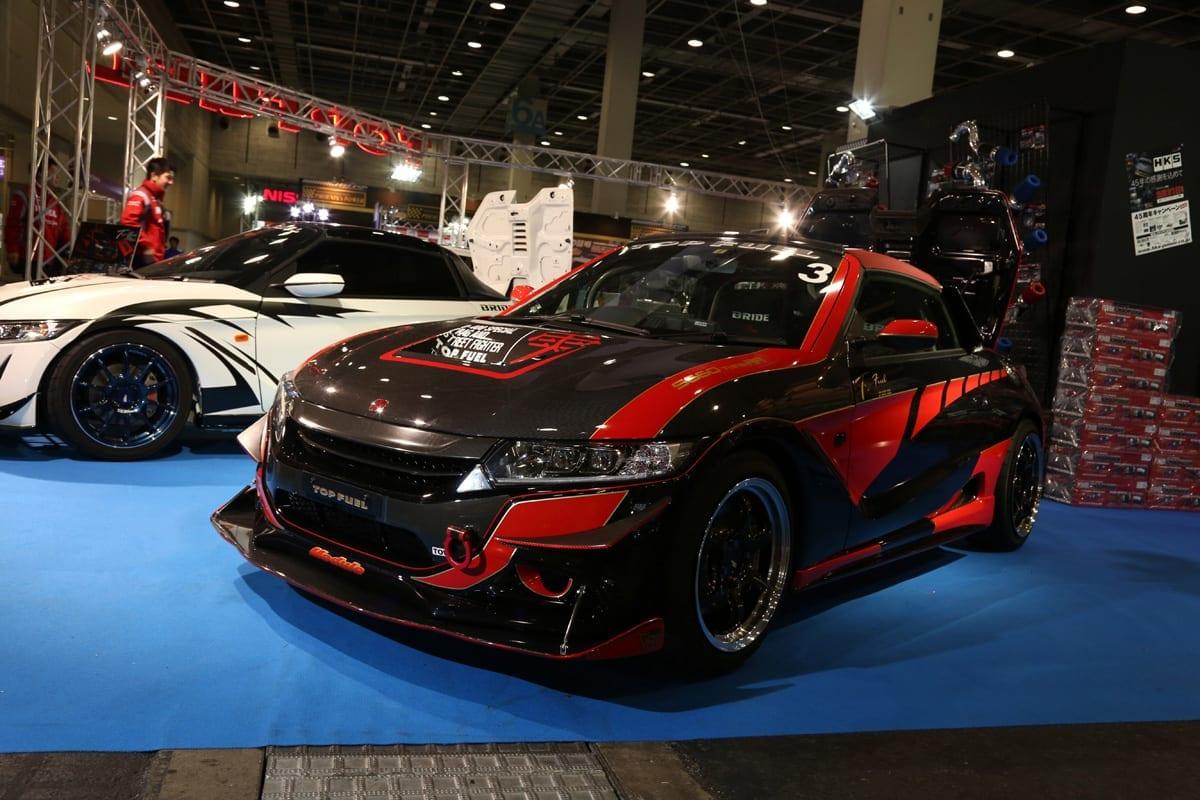 ホンダ S660 チューニング 大阪オートメッセ2018 トライアル トップフューエル