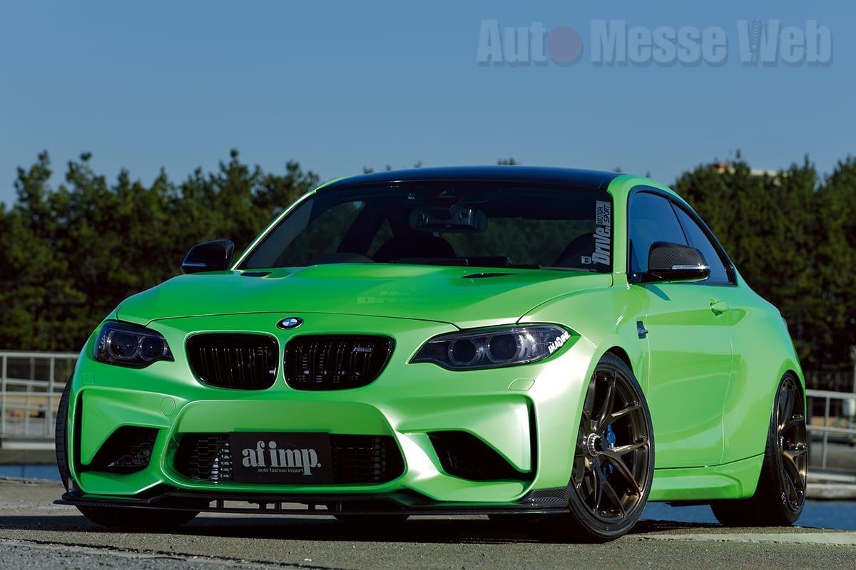 BMW M2、FLEX BRACE、BCフォージド、KW、ドライブ、愛媛