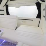 【画像】「ハイエース・注目インテリアメイク第4弾」黒と白でキメたシンプルビューティは車中泊もOK!!