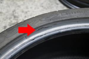 「裏側に大きな亀裂!?」表面だけでは発見できないタイヤの劣化状況