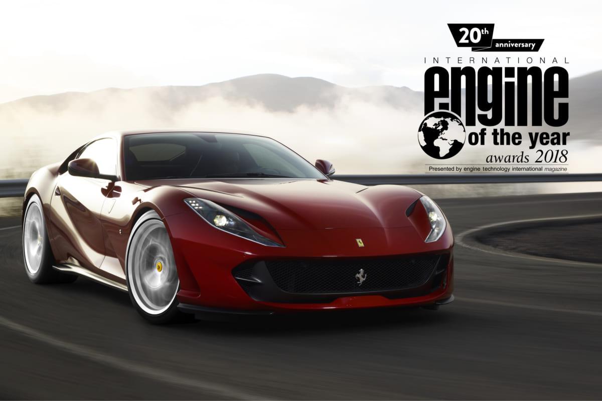 フェラーリ、V8、エンジン、2018年インターナショナル・エンジン・オブ・ザ・イヤー