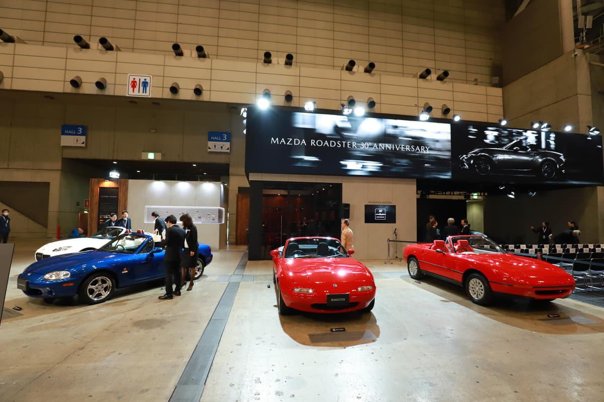 マツダ・ロードスター生誕30周年記念モデルが日本初公開