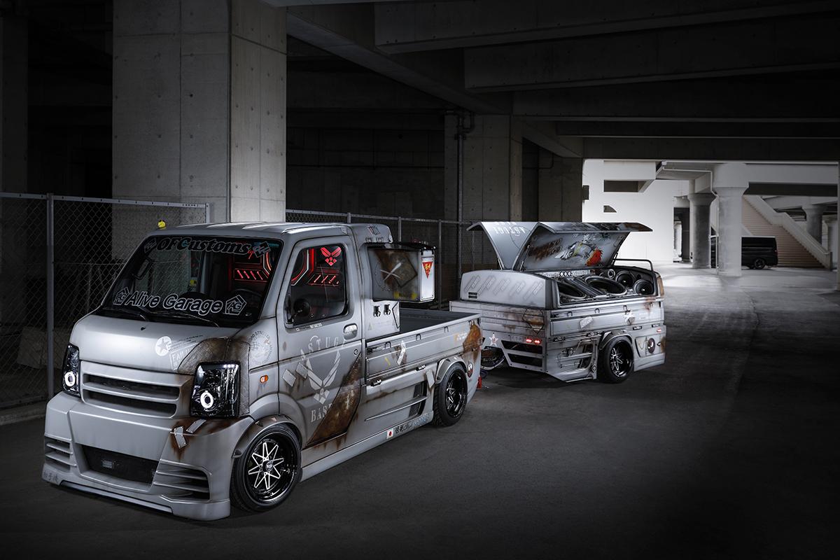 軽自動車の中でも軽トラは日本の働く現場で大活躍、農業や漁業に携わるあらゆるオーナーがカスタマイズして楽しんでいる