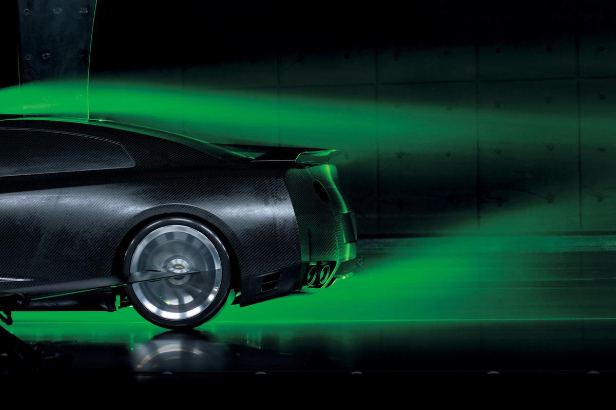 日産GT-Rの風洞実験