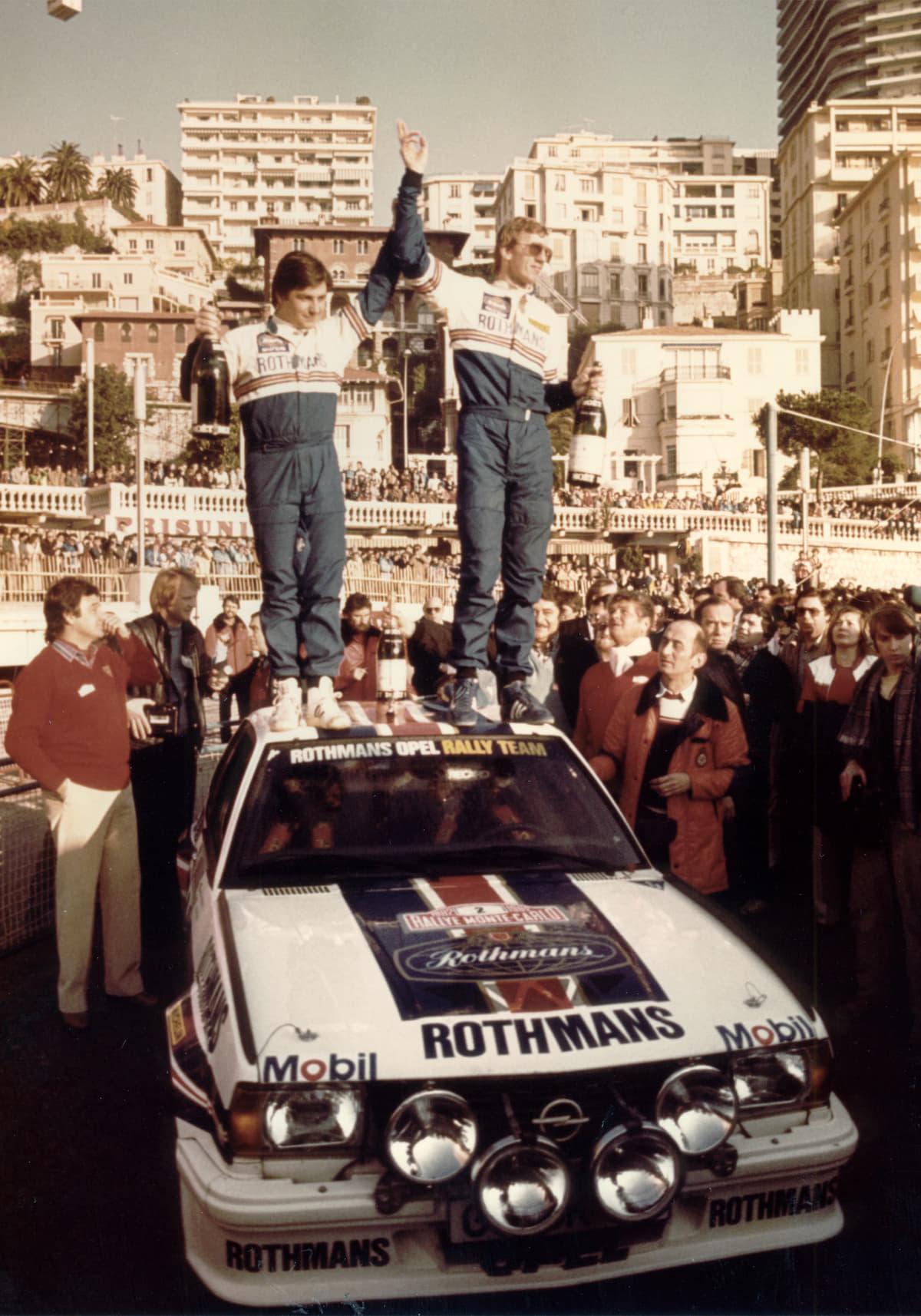 1982年モンテカルロラリーで優勝したロールのオペルアスコナ400