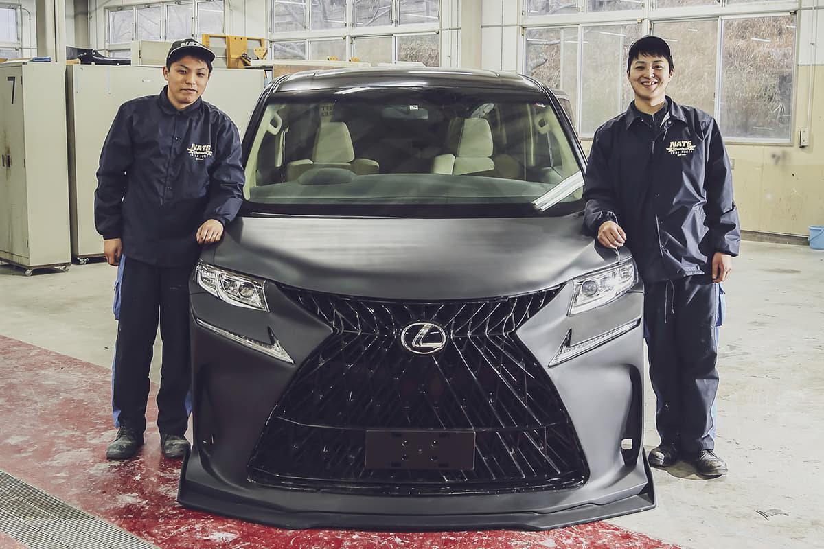日本自動車大学校(NATS)が東京オートサロン2021に出展予定だった車両の紹介