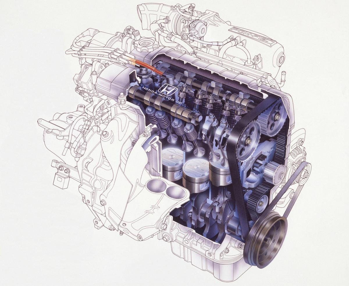 PGM-FIを採用した1.6L DOHC直4エンジン